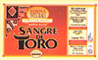 La vecchia etichetta della Sange de Toro di Beba