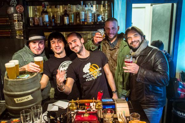 Un momento del Preopening party con Marco, Mirco, quell'altro, il Cammello e Leonardo Di Vincenzo