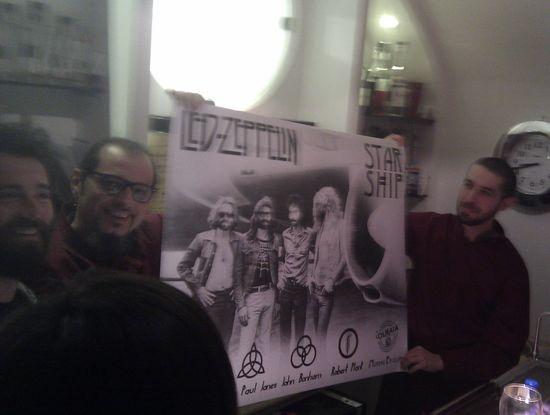 Moreno Ercolani in mezzo ai Led Zeppelin!