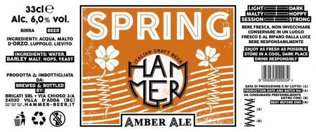 """Etichetta Spring: illustrazione raffigurante le due accezioni della parola """"spring"""" (primavera e molla)"""