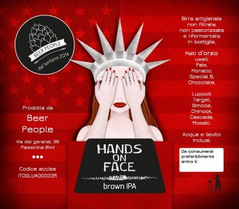 hands on face