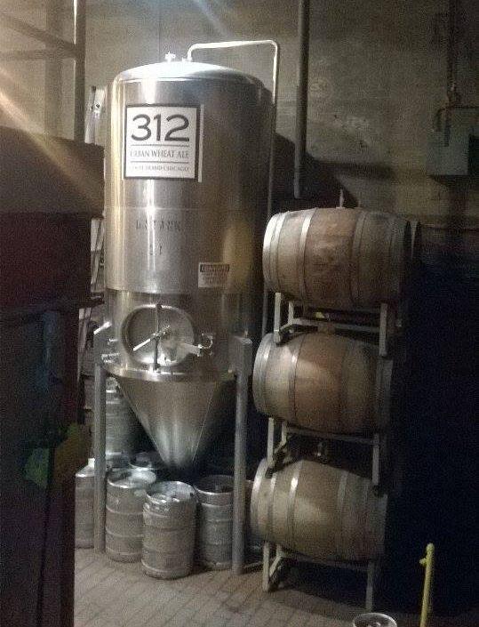 Un fermentatore di Goose Island. Non fatevi ingannare dalle sue dimensioni: l'azienda è tutt'altro che piccina!